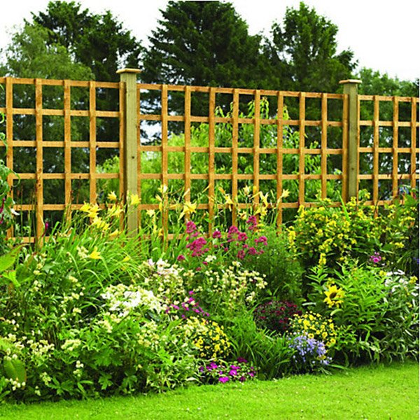 Fence Panel Trellis Square Lattice Various Sizes