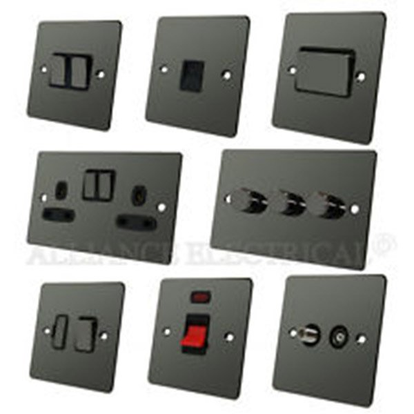 Selection of chrome electrical sockets